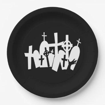 Halloween Themed Coordinating Zombie Graveyard Halloween Paper Plate