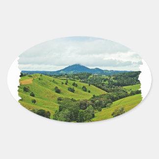 Cooroy Mountain, Queensland, Australia Oval Sticker