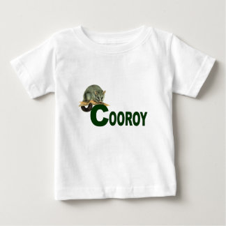 Cooroy Possum (dark green lettering) Baby T-Shirt