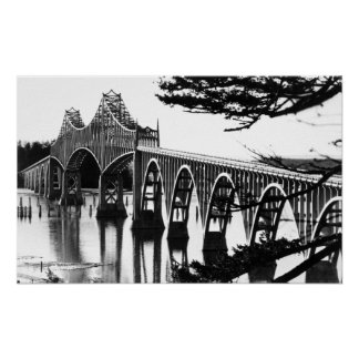 Coos Bay Bridge PhotographNorth Bend, OR Poster
