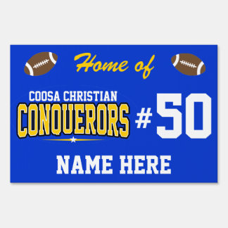 Coosa Christian; Conquerors Lawn Sign