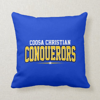 Coosa Christian; Conquerors Throw Pillow