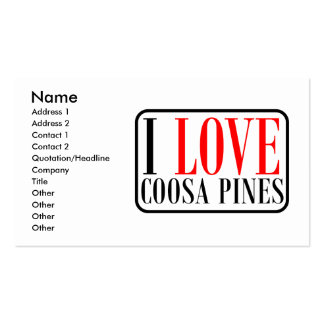 Coosa Pines, Alabama City Design Double-Sided Standard Business Cards (Pack Of 100)