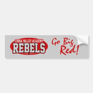 Coosa Valley Academy; Rebels Car Bumper Sticker
