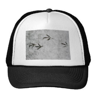 Coot Footprints In The Snow Mesh Hats