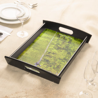 Coot in green water serving tray