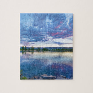 Coot Lake View Jigsaw Puzzle