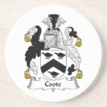 Coote Family Crest Beverage Coasters