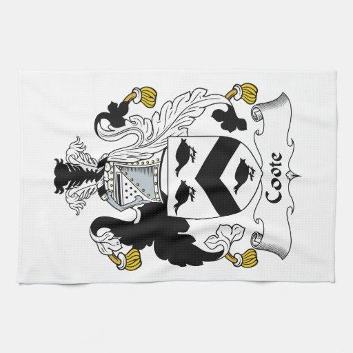 Coote Family Crest Hand Towel