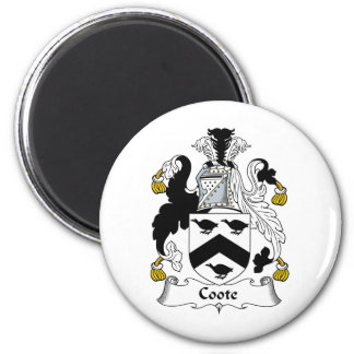 Coote Family Crest Refrigerator Magnet