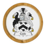 Coote Family Crest Round Cheeseboard