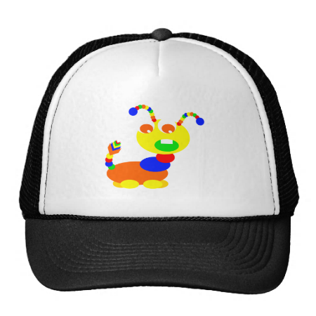Cootie monster mesh hat