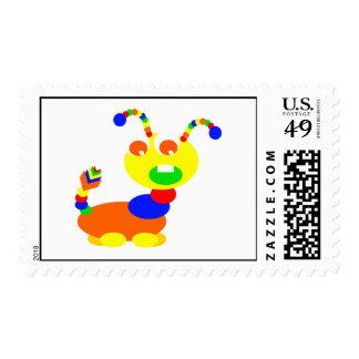 Cootie monster stamp