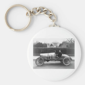 Cootie Race Car Vintage White House Photo Basic Round Button Keychain