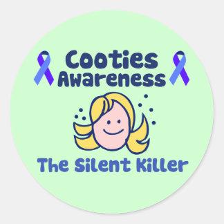 Cooties Awareness Sticker