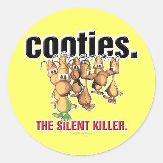 Cooties... Classic Round Sticker