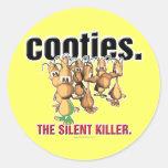 Cooties… Etiquetas Redondas