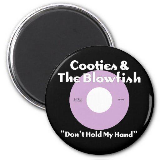 Cooties y la púrpura del Blowfish Imán Redondo 5 Cm