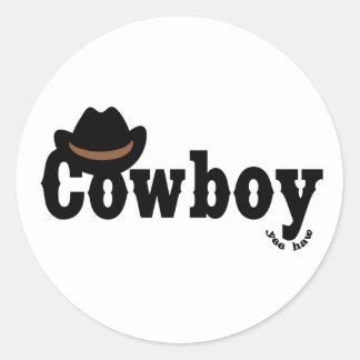 coowboy yeehaw classic round sticker