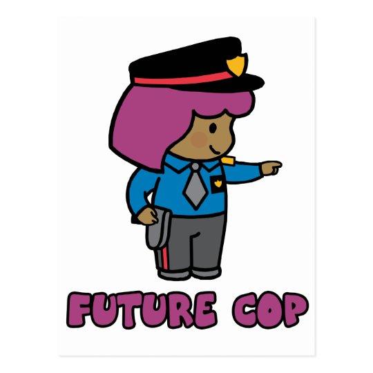 Cop (girl) postcard