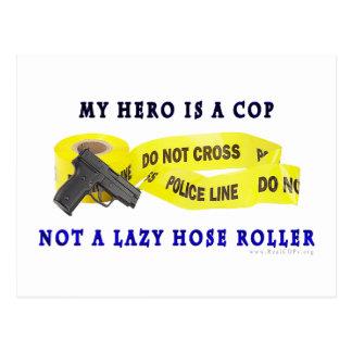 COP Hero Police Postcard
