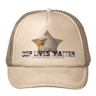 cop lives matter cap trucker hat