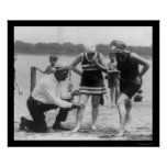 Cop Measuring Swimsuit Length 1922 Poster