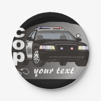 Cop Personalized 7 Inch Paper Plate