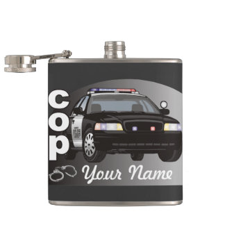 Cop Personalized Police Officer Hip Flask