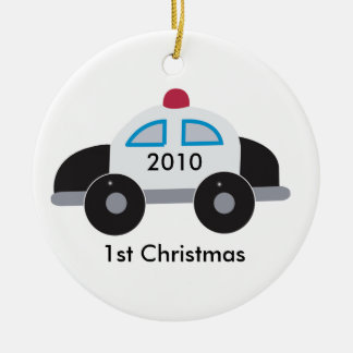 COP POLICE Baby's First Christmas Customizable Christmas Tree Ornaments