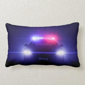 Cop  Police Car With Full Lights Lumbar Pillow
