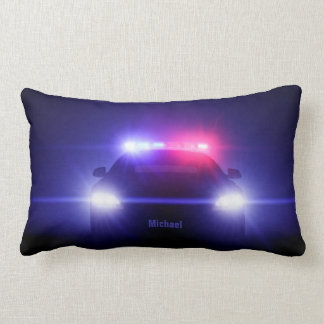 Cop  Police Car With Full Lights Pillow