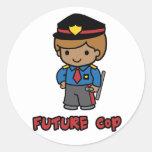 Cop Round Sticker