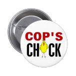Cop's  Chick Button