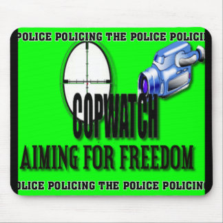 COP WATCH MOUSE PAD