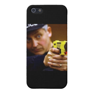 Cop With A Taser Gun iPhone 5/5S Covers