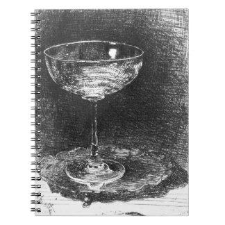 Copa de vino 1860 libros de apuntes con espiral