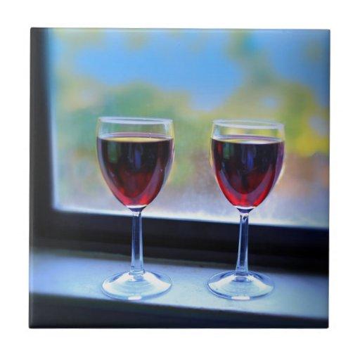 Copa de vino azulejo ceramica