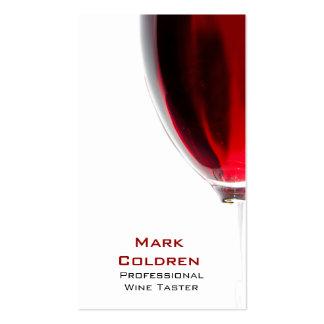 Copa de vino con el vino rojo 2 plantilla de tarjeta de visita