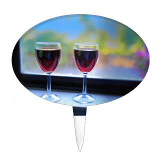 Copa de vino figuras de tarta