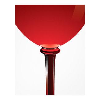 Copa de vino plantilla de membrete