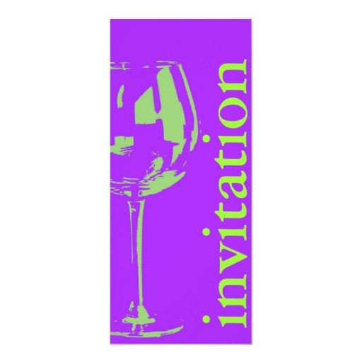 """copa de vino moderna - ducha nupcial winetasting invitación 4"""" x 9.25"""""""