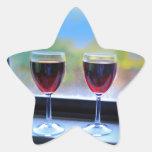 Copa de vino pegatina forma de estrella