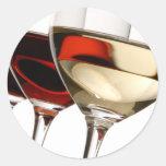 Copa de vino pegatinas redondas