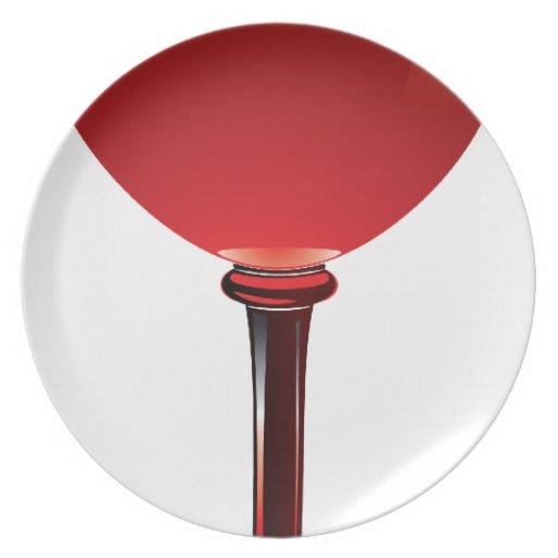 Copa de vino platos para fiestas