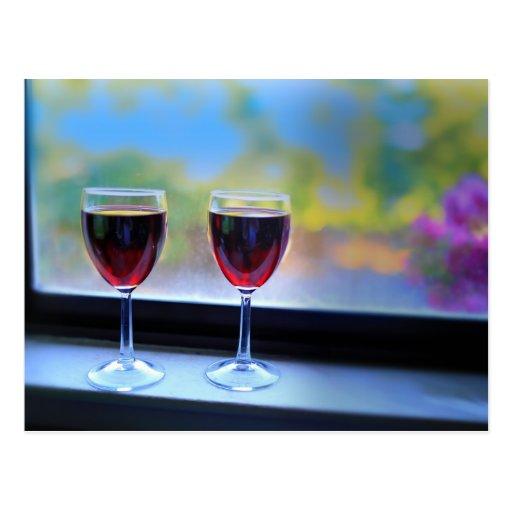Copa de vino postales