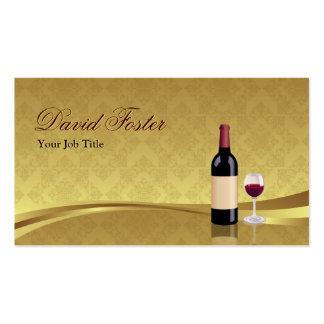 Copa de vino roja - agente de la agencia del minor plantillas de tarjeta de negocio