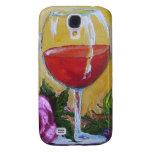 Copa de vino roja y color de rosa rosado