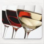 Copa de vino tapete de ratones