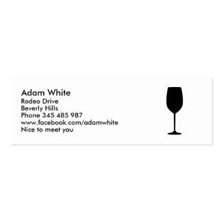 Copa de vino tarjeta de visita